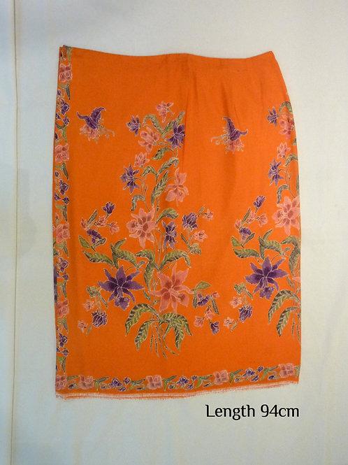 Button: Orange Butterflies Plain