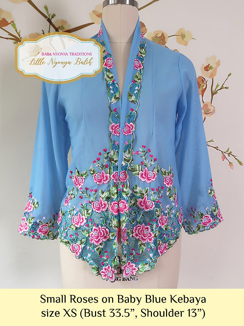 B: Small Roses in Baby Blue Kebaya. size XS