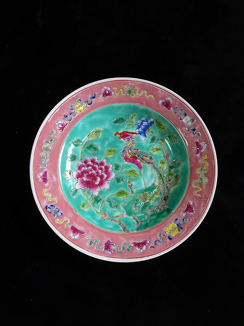Baba Phoenix Porcelain Serving Plate Turquoise