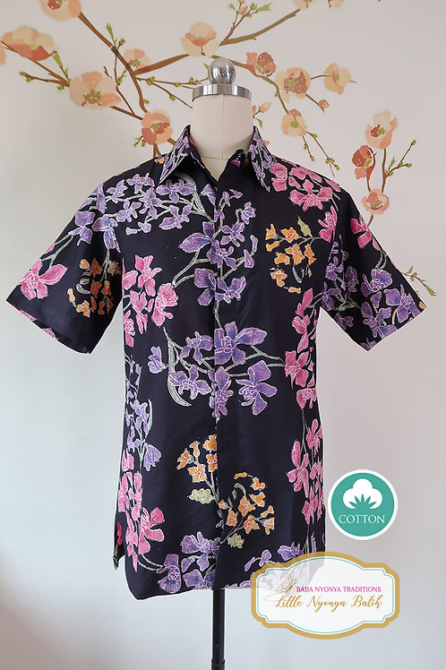 SBMS: Orchid Black on Cotton (S) No Lining
