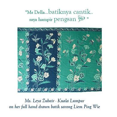 peranakan batik hand drawn singapore indonesia Liem Ping Wie nonya nyonya