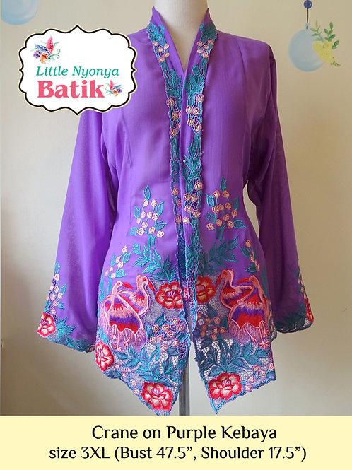 B: Crane in Purple Kebaya. size 3XL