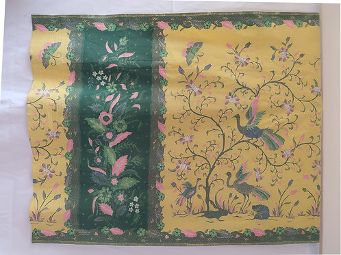 Sarong Bird Butterfly in Green Yellow