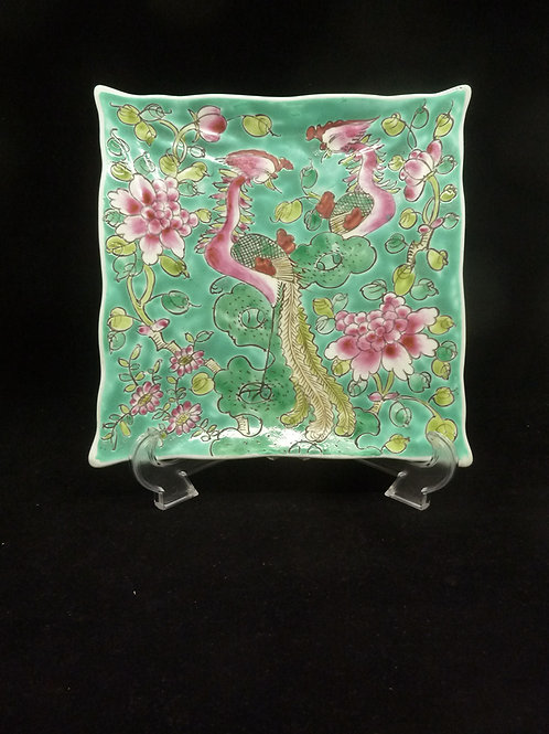 Phoenix Porcelain Square Plate Big with stand