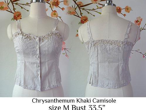 Khaki Chrysanthemum Camisole size M A