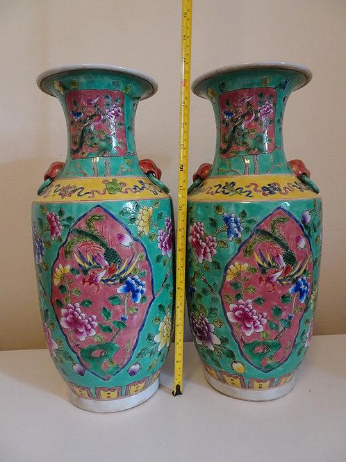 Baba Giant Vase with Phoenix and Peony