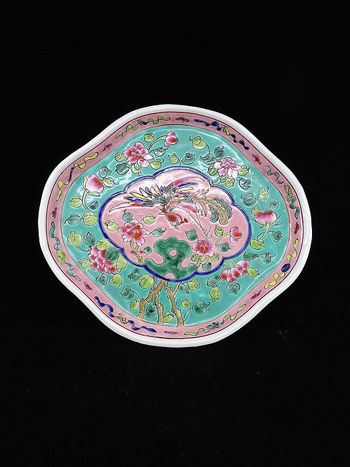Phoenix Porcelain Oval Plate Big Turquoise