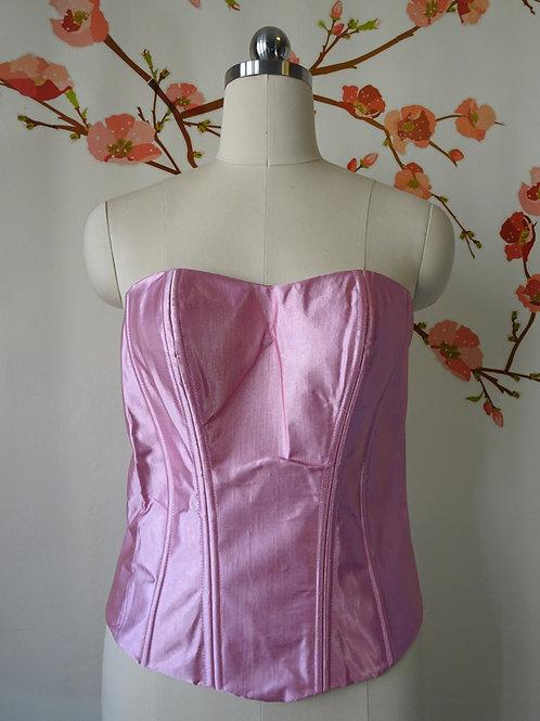 Sateen Bustier Pink size M-XL