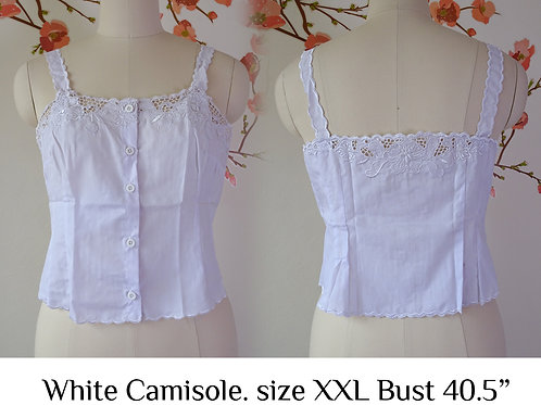White Camisole size XXL A