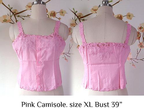 Pink Chrysanthemum Camisole size XL B