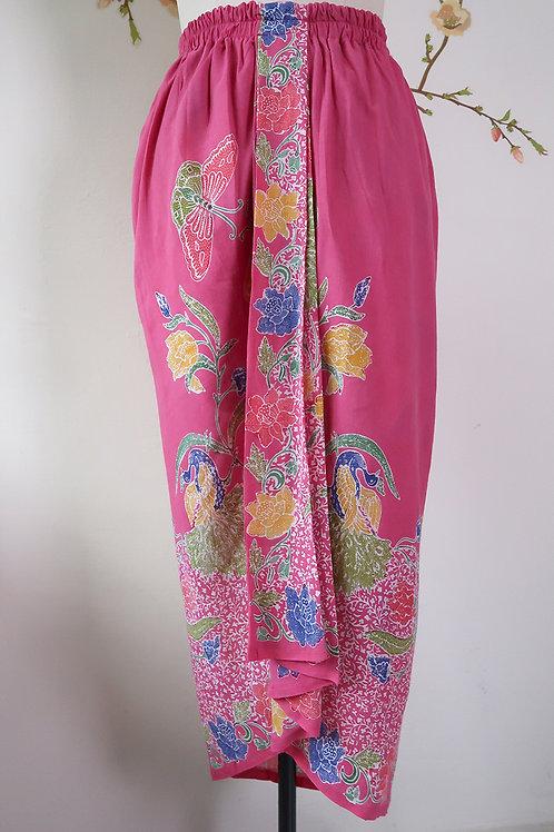 Sarong Rubberised Skirt Pink