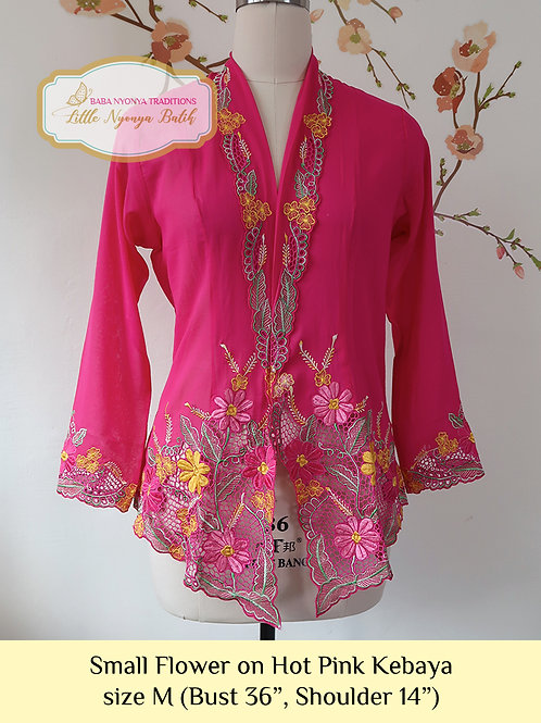 C: Small Flower in Hot Pink Kebaya. size M