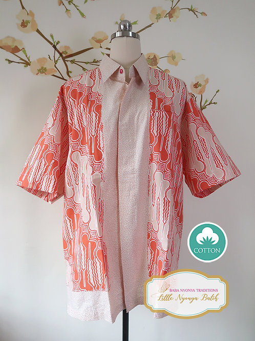 SBMS: Traditional Motif Orange Cotton (XL) No Lining