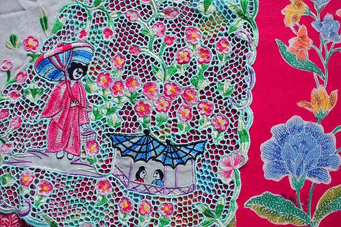 Japan: Kebaya material Baby Blue