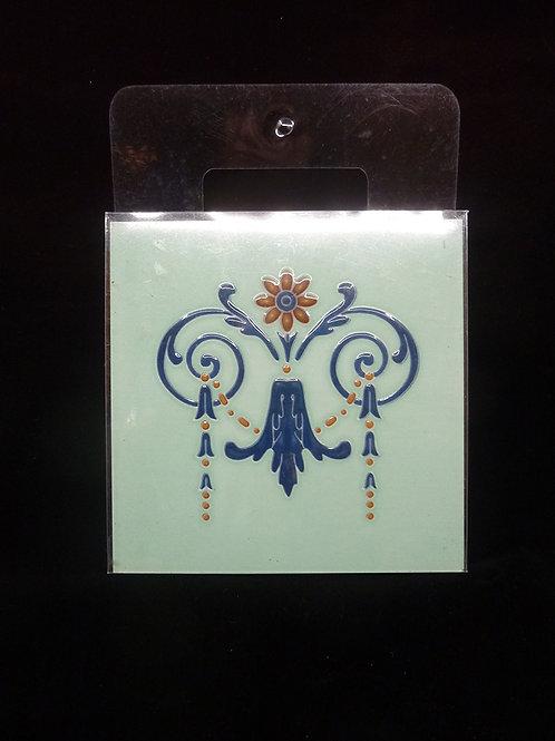 Ceramic Coaster Tile Light Blue