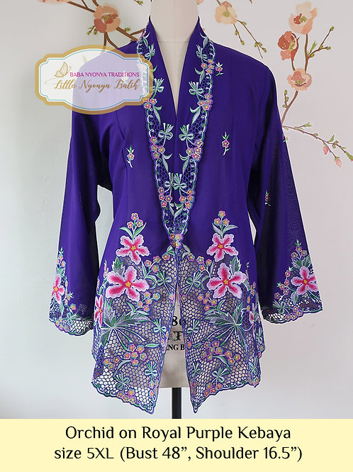H: Orchid in Royal Purple Kebaya. Size 5XL