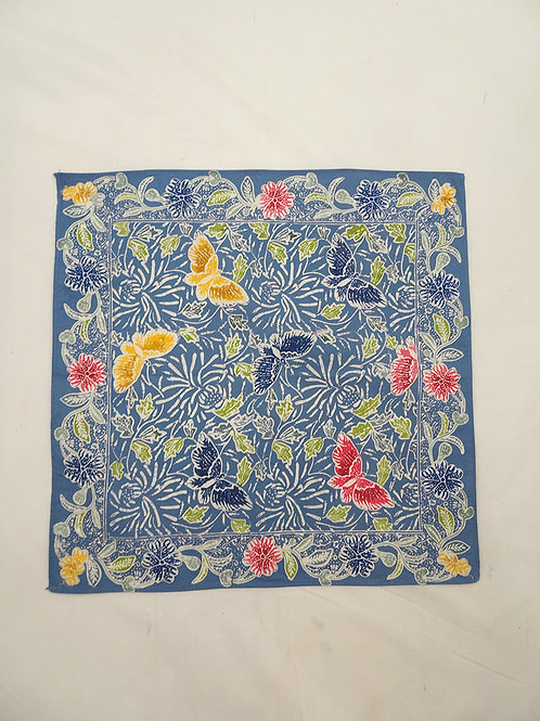 Small Hankie/Napkin Blue Cloudy Butterfly