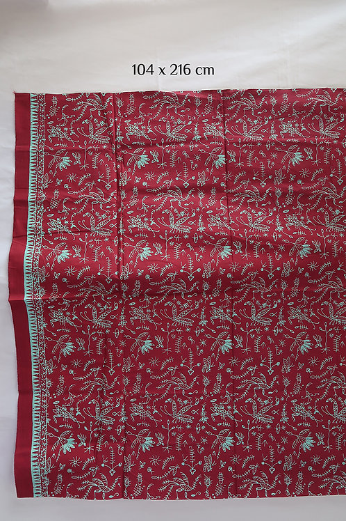 Hipwrap Insect Maroon on Cotton
