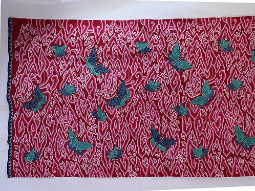 Red Cloud Butterfly Batik