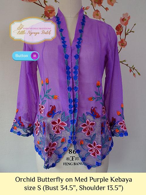 B: Orchid Butterfly in Med Purple Kebaya. size S