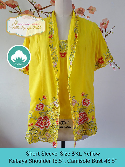 Short Sleeve with Camisole Yellow (3XL)