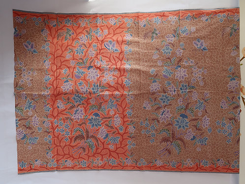 Sarong Butterfly Orange Khaki 2 Sided