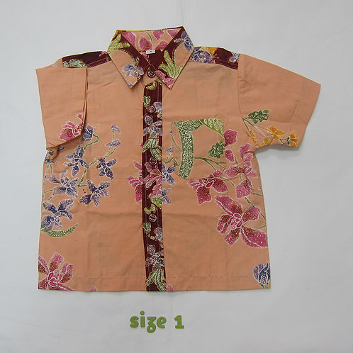 Boy Shirt Orchid Cream. For 1yo