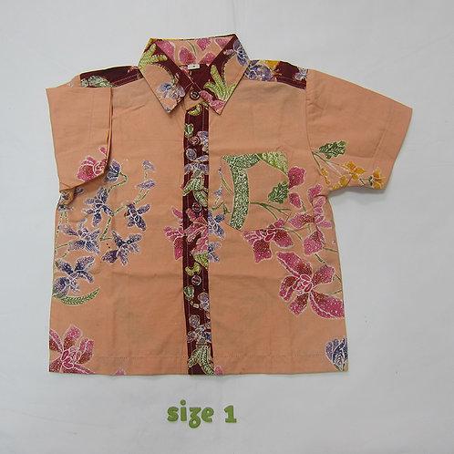Boy Shirt Orchid Cream. For 1yo