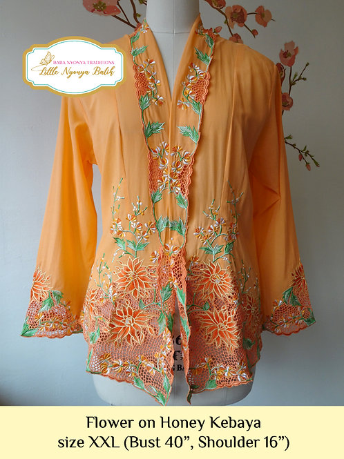 H: Flower on Honey Kebaya. size XXL