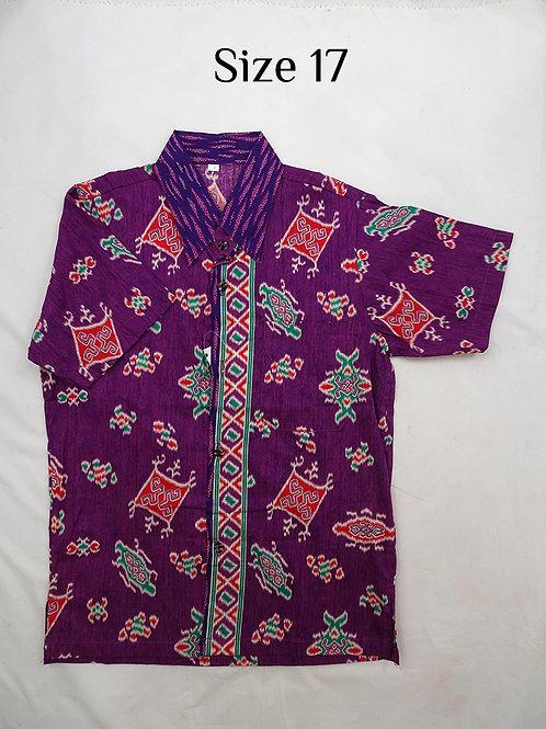 Boy Batik Shirt. size 17