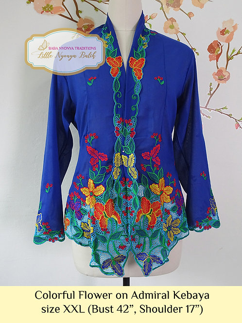 B: Colorful Flower in Admiral Kebaya. size XXL