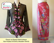 peranakan black nyonya kebaya pink sarong batik singapore