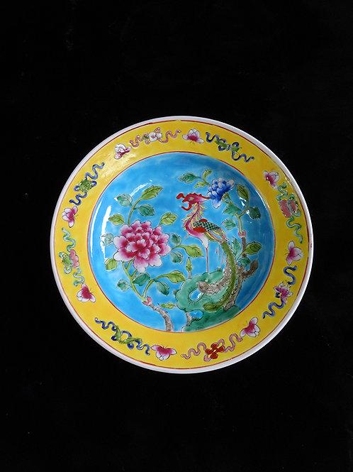 Baba Phoenix Porcelain Serving Plate Blue