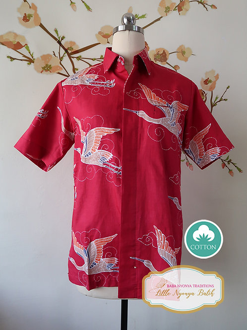 SBMS: Crane Red on Cotton Sateen (S) No lining