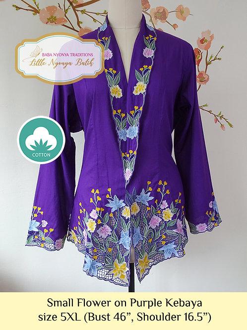 C: Small Flower in Purple Kebaya. size 5XL