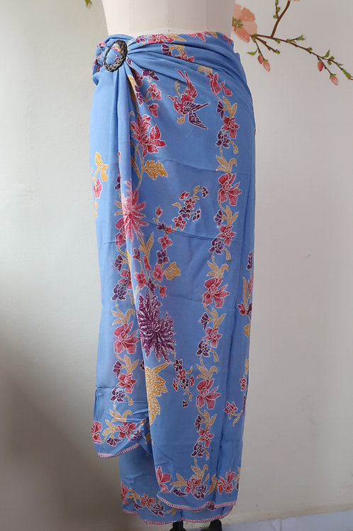 Rayon Sarong Light Blue