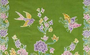 peranakan sarong bird butterfly batik cotton singapore indonesia