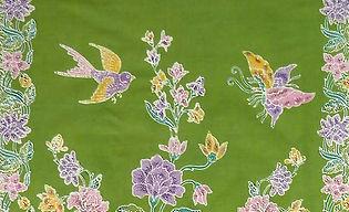 peranakan batik sarong singapore bird butterfly