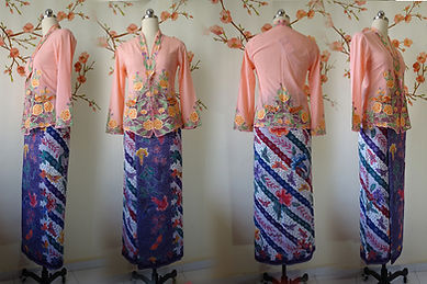 peranakan culture hand drawn batik Singapore sarong butterfly kebaya