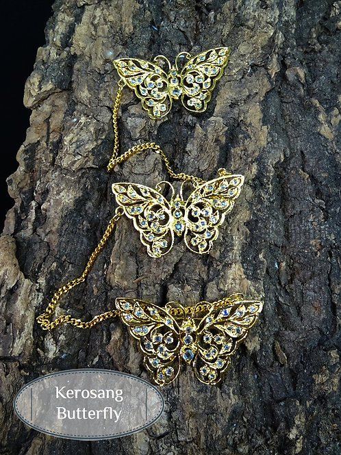 Kerosang Vintage Style Butterfly