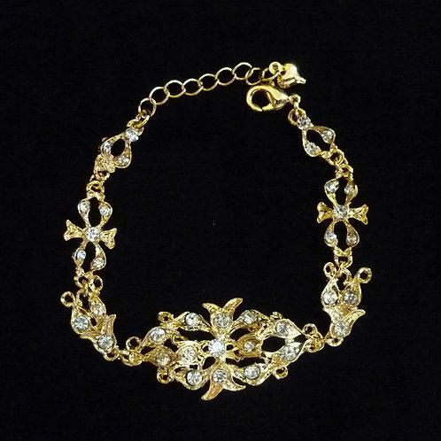 Peranakan Flower Bracelet Vintage Style