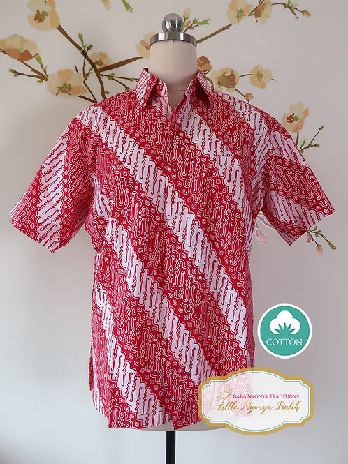 SBMS: Traditional pattern on Red Cotton (S) No Lining