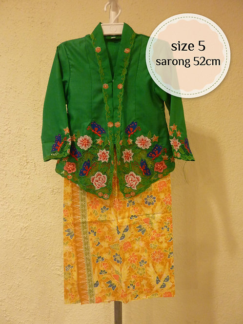 size 5. Cotton Butterfly Green