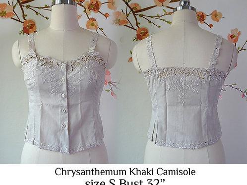 Khaki Chrysanthemum Camisole size S