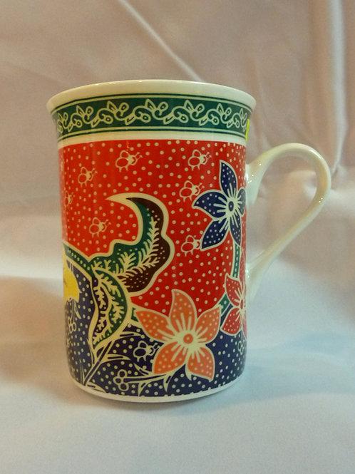 Batik Ceramic Mug (1pc)