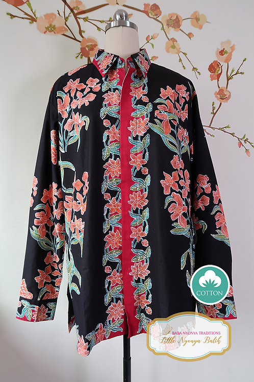 SBML: Orchid Black on Cotton. No Lining. size XL