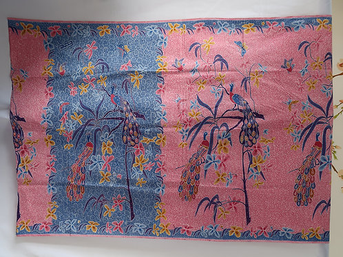 Sarong Orchid Peacock Blue-Creamy Pink