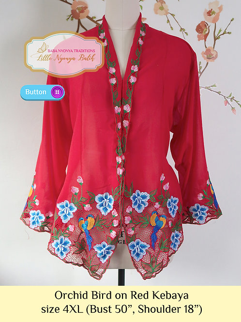 B: Orchid Bird in Amaranth Kebaya. size 4XL