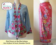 peranakan blue nyonya kebaya pink sarong batik singapore