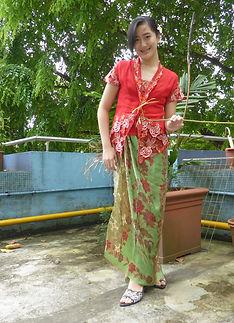 short sleeve kebaya peranakan nonya nyonya singapore red